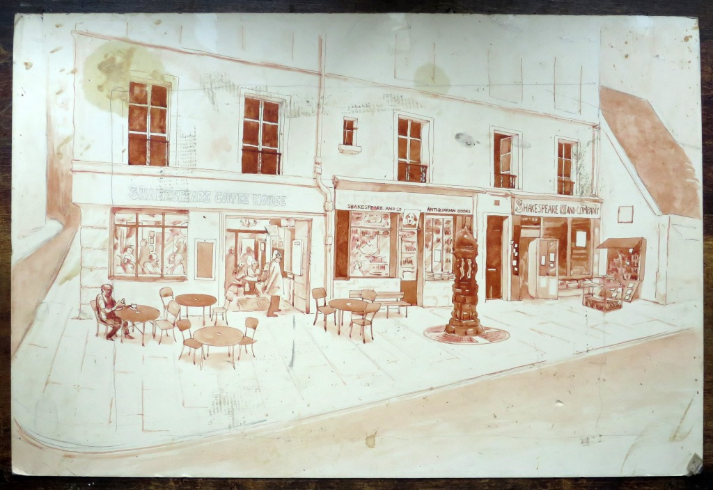 Original 1960s drawing of the proposed cafe. Copyright Shakespeare and Co.